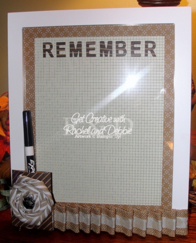 Unfrogettable STamping | 2014 GCRD Christmas Week 4 Dry Erase Board tutorial