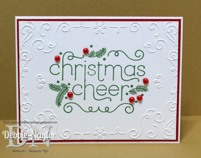 Unfrogettable Stamping | Fabulous Friday CAS Cheerful Christmas card