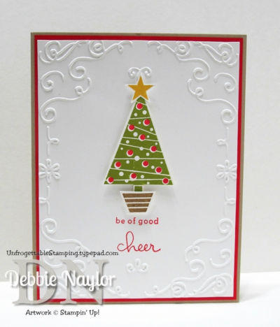 Unfrogettable Stamping | Week 6 QE Christmas Festival of Trees card