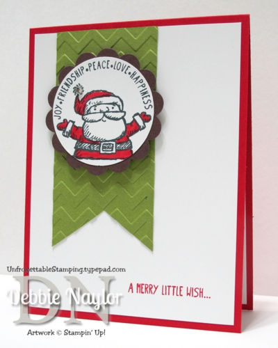 Unfrogettable Stamping | Week 7 Get Your Santa On QE Christmas card